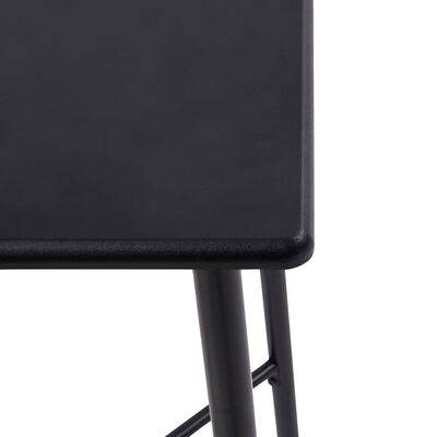 vidaXL 3-tlg. Bar-Set Kunststoff Grau