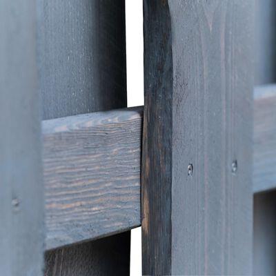 vidaXL Gartentor Imprägniertes Kiefernholz 100×125 cm Grau