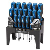 Draper Tools 44-teiliges Schraubendreher, Sechskant- und Bitschlüssel-Set Blau 81294