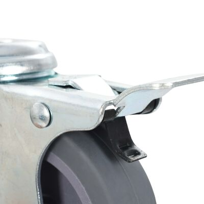 vidaXL 12 Stk. Lenkrollen mit Rückenloch 75 mm