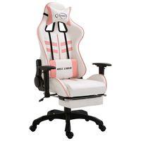vidaXL Gaming-Stuhl mit Fußstütze Rosa Kunstleder