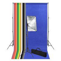 vidaXL Fotostudio-Set mit Hintergrund und Softbox-Leuchte