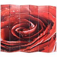 vidaXL Raumteiler klappbar 228 x 170 cm Rose Rot