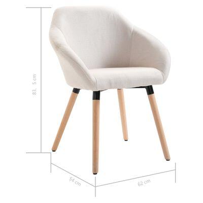 vidaXL Esszimmerstühle 6 Stk. Cremeweiß Stoff