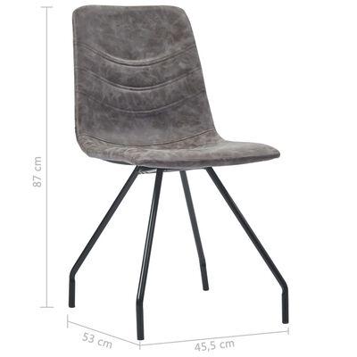 vidaXL Esszimmerstühle 6 Stk. Dunkelbraun Kunstleder