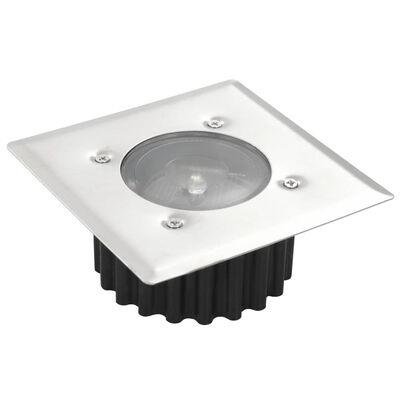 Solarlampe 6 x Quadrat Bodenbeleuchtung Gartenlampe LED