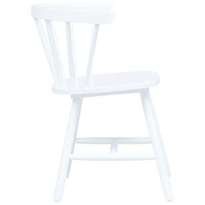 vidaXL Esszimmerstühle 6 Stk. Weiß Gummiholz Massiv