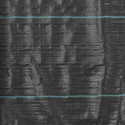 vidaXL Unkraut- und Wurzelschutzfolie PP 2 x 25 m Schwarz