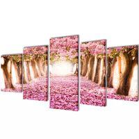 Bilder Dekoration Set Kirschblüte 100 x 50 cm