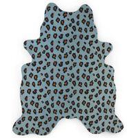 CHILDHOME Kinderteppich 145×160 cm Leopard Blau