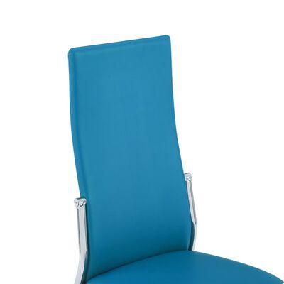 vidaXL Esszimmerstühle 6 Stk. Blau Kunstleder