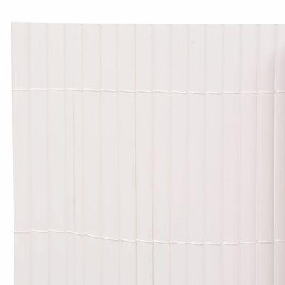 vidaXL Gartenzaun Doppelseitig 90 x 300 cm Weiß