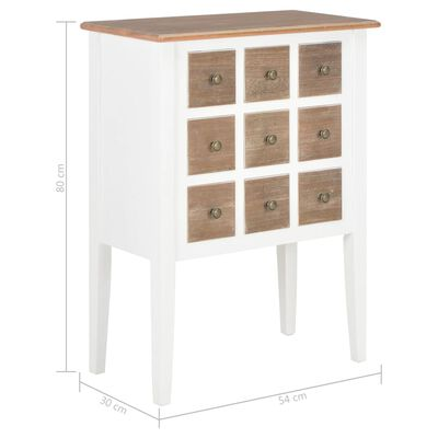 vidaXL Sideboard Weiß 54 x 30 x 80 cm Massivholz Mango