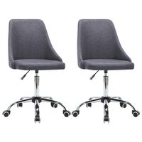 vidaXL Bürostühle 2 Stk. Stoff Dunkelgrau