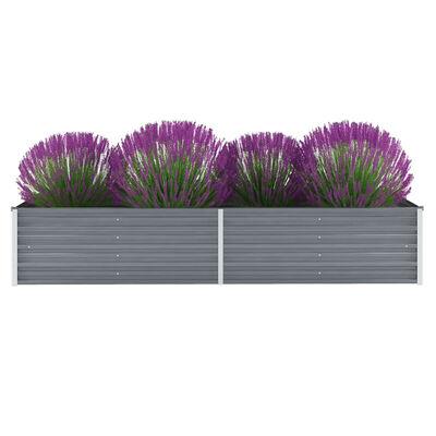 vidaXL Garten-Hochbeet Verzinkter Stahl 240x80x45 cm Grau