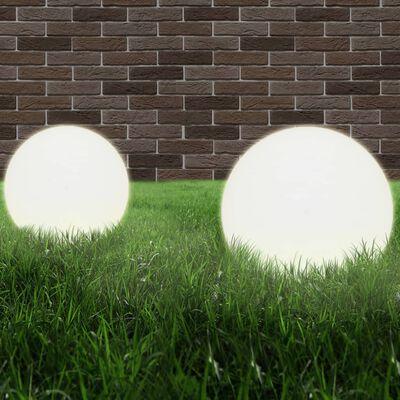 vidaXL LED-Gartenleuchten 4 Stk. Kugelförmig 40 cm PMMA