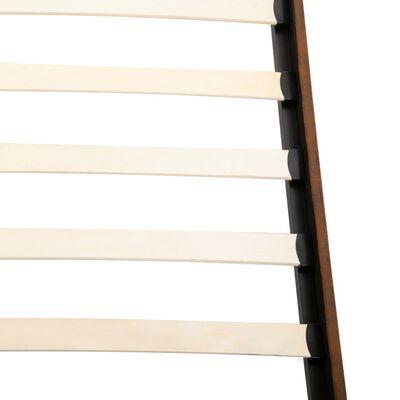 vidaXL Bett mit Matratze Braun Wildleder-Optik 120 x 200 cm