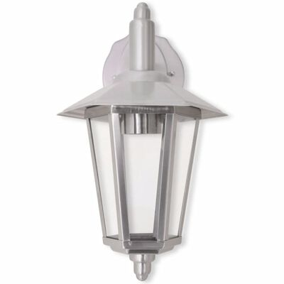 vidaXL Außenwandlampe Laterne Hängend Edelstahl