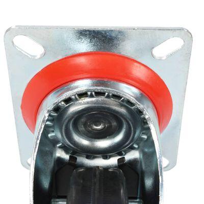 vidaXL 8 Stk. Lenkrollen 100 mm
