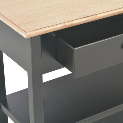 vidaXL Sideboard Schwarz 110×35×80 cm MDF