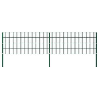 vidaXL Zaunfeld mit Pfosten Eisen 3,4 x 1,6 m Grün