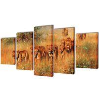 Bilder Dekoration Set Löwen 200 x 100 cm