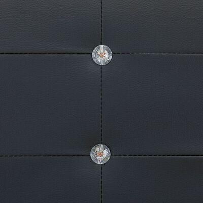 vidaXL Bett mit Memory-Schaum-Matratze Schwarz Kunstleder 140x200 cm