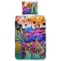 Good Morning Bettwäsche-Set 5481-P GRAFFITI 135 × 200 cm Mehrfarbig
