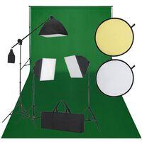 vidaXL Fotostudio-Set Schwarz und Grün