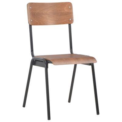 vidaXL Esszimmerstühle 6 Stk. Braun Sperrholz