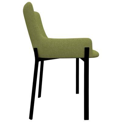 vidaXL Esszimmerstühle 6 Stk. Grün Stoff