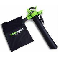 Greenworks Elektro Laubsauger und Laubbläser GD40BV ohne Akku 24227