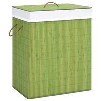 vidaXL Bambus-Wäschekorb Grün 100 L