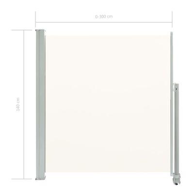 vidaXL Ausziehbare Seitenmarkise 140 x 300 cm Creme