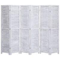 vidaXL 6-tlg. Raumteiler Grau 210×165 cm Holz
