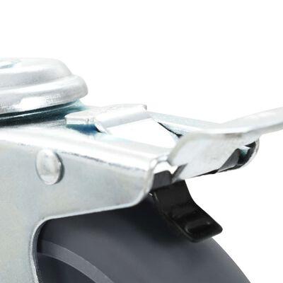 vidaXL 8 Stk. Lenkrollen mit Rückenloch 125 mm