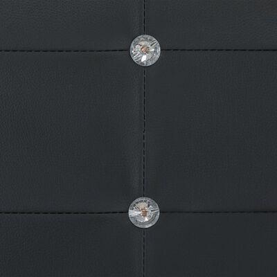 vidaXL Bett mit Memoryschaum-Matratze Schwarz Kunstleder 90×200 cm