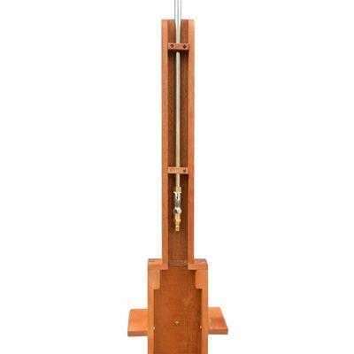 vidaXL Außendusche Eukalyptusholz und Stahl