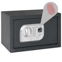 vidaXL Digitaler Tresor mit Fingerabdruck Dunkelgrau 31x20x20 cm