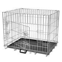 Faltbare Hundebox Metall L