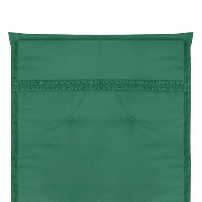 vidaXL Gartenstuhl Auflage Hochlehner 4 Stk. Grün 120 x 50 x 3 cm