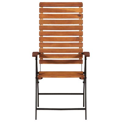 vidaXL Garten-Liegestühle 2 Stk. Akazienholz Massiv