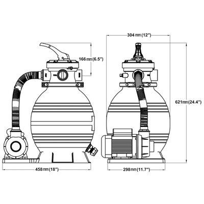 vidaXL Sandfilterpumpen 2 Stk. 400 W 11.000 L/h