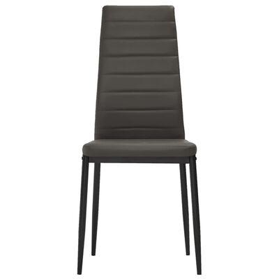 vidaXL Esszimmerstühle 6 Stk. Grau Kunstleder