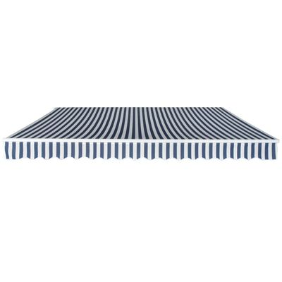 vidaXL Gelenkarmmarkise Handbetrieben 400 m Blau und Weiß