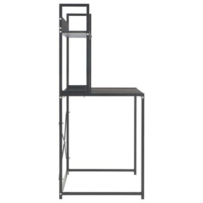 vidaXL Computertisch Schwarz 120×60×138 cm