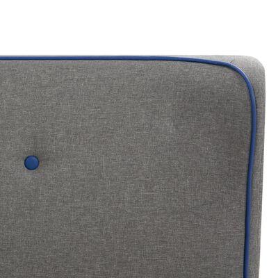 vidaXL Bett mit Memory-Schaum-Matratze Hellgrau Stoff 90×200 cm