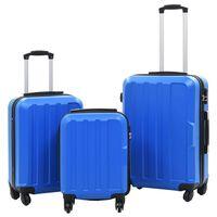 vidaXL Hartschalen-Trolley-Set 3 Stk. Blau ABS