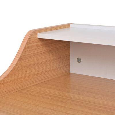 vidaXL Büroschreibtisch Natur Holz