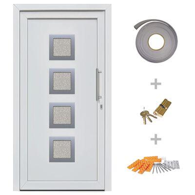 vidaXL Haustür Weiß 98×190 cm